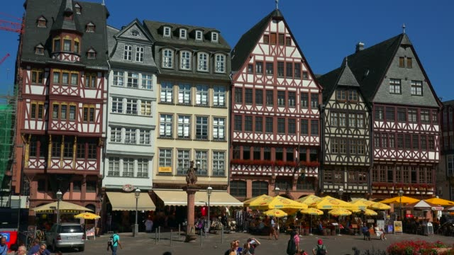 Half-timbered houses on the Roemerberg, Frankfurt am Main, Hesse, Germany
