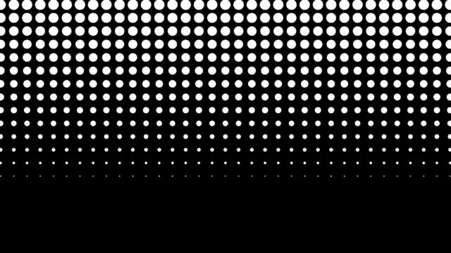 halftone dots wipe transition graphic luma alpha matte vertical down straight shutter - digital enhancement stock videos & royalty-free footage