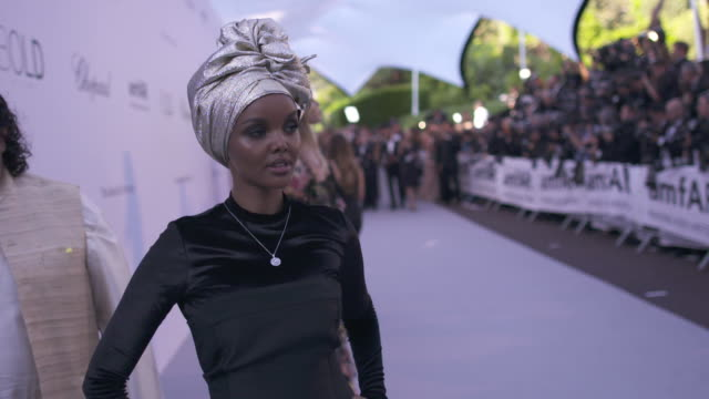 SLOMO Halima Aden at amfAR Gala Cannes 2018 at Hotel du CapEdenRoc on May 17 2018 in Cap d'Antibes France