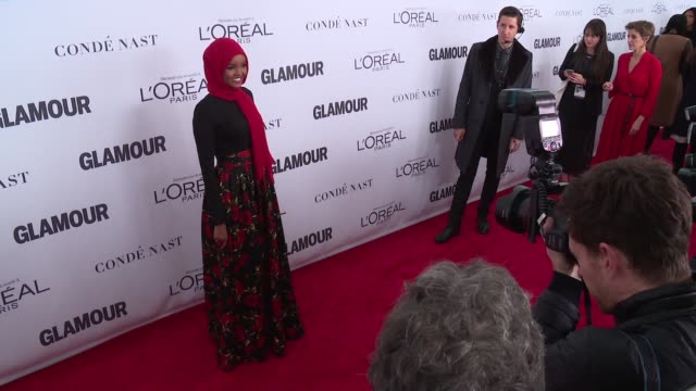 Halima Aden at Glamour's 2017 Women Of The Year on November 13 2017 in New York City
