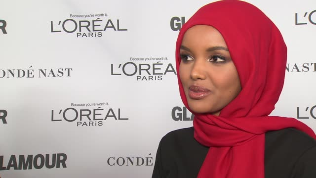 INTERVIEW Halima Aden on being the first model to wear a hijab at Glamour's 2017 Women Of The Year on November 13 2017 in New York City