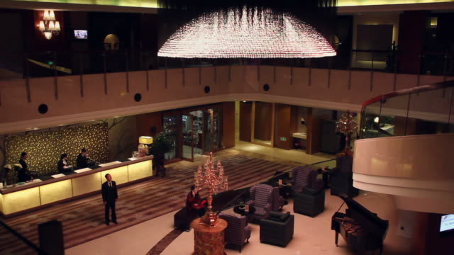 ha ws hall of hotel/xian,shaanxi,china - checkout stock videos & royalty-free footage