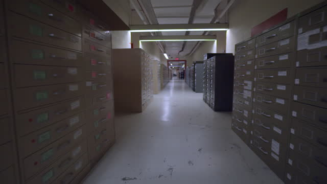 hall of records - filing cabinet stock videos & royalty-free footage