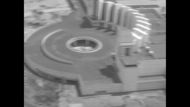 hall of science bldg at the chicago century of progress world's fair / aerial views of fort dearborn bldgs / aerial views of administration bldg /... - chicago world's fair stock videos & royalty-free footage