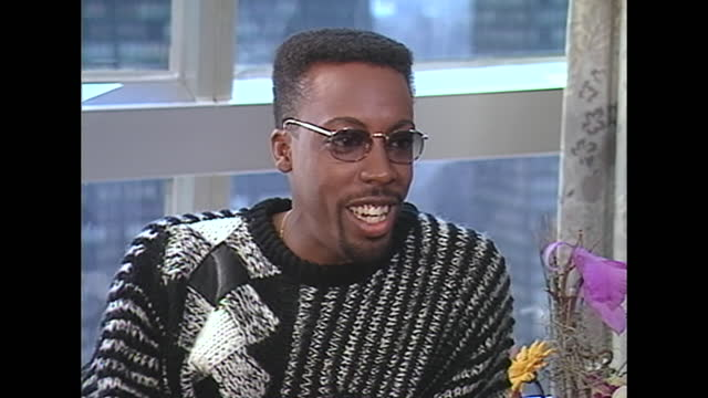 yeah, it's strange. instead of – it's kind of nice. instead of being the guy who used to sit next to alan thicke, you know, now it's arsenio, or... - arsenio hall stock videos & royalty-free footage