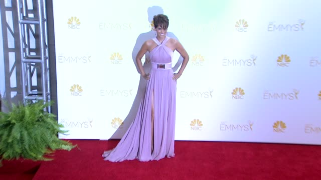 halle berry - 66th primetime emmy awards - photo room at nokia theatre l.a. live on august 25, 2014 in los angeles, california. - emmy awards stock-videos und b-roll-filmmaterial