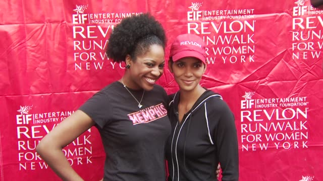 halle berry and guest at the 13th annual eif revlon run/walk for women at new york ny - revlon stock videos and b-roll footage