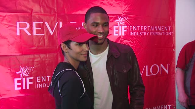 halle berry and trey songz at the 13th annual eif revlon run/walk for women at new york ny - revlon stock videos and b-roll footage
