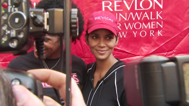halle berry at the 13th annual eif revlon run/walk for women at new york ny. - revlon stock videos & royalty-free footage