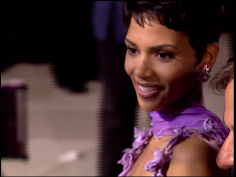 halle berry at the 1996 academy awards vanity fair party at morton's in west hollywood, california on march 25, 1996. - 68th annual academy awards stock videos & royalty-free footage