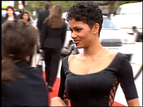 halle berry at the blockbuster awards at hollywood pantages theater in hollywood, california on march 11, 1997. - pantages theater stock videos & royalty-free footage