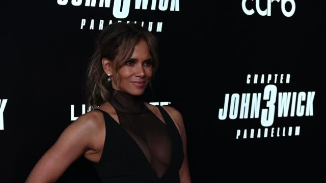 halle berry at the john wick chapter 3 world premiere at one hanson place on may 09 2019 in new york city - halle berry stock videos and b-roll footage