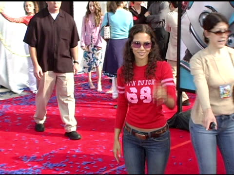 halle berry at the 'robots' world premiere at the mann village theatre in westwood california on march 6 2005 - regency village theater stock videos & royalty-free footage