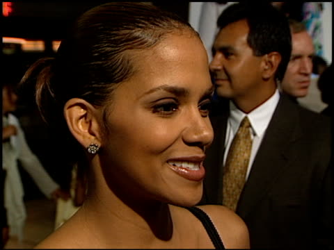 Halle Berry at the 'Why Do Fools Fall In Love' Premiere at ABC Ent Center in Century City California on August 26 1998
