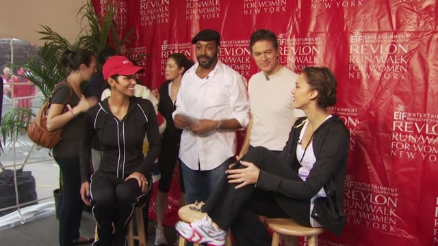 halle berry jesse martin dr oz and jessica alba at the 13th annual eif revlon run/walk for women at new york ny - revlon stock videos and b-roll footage