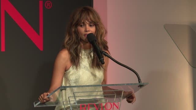 SPEECH Halle Berry launches the evening at Revlon's 2nd Annual Love Is On Million Dollar Challenge Finale Party at the Glass Houses on December 1...