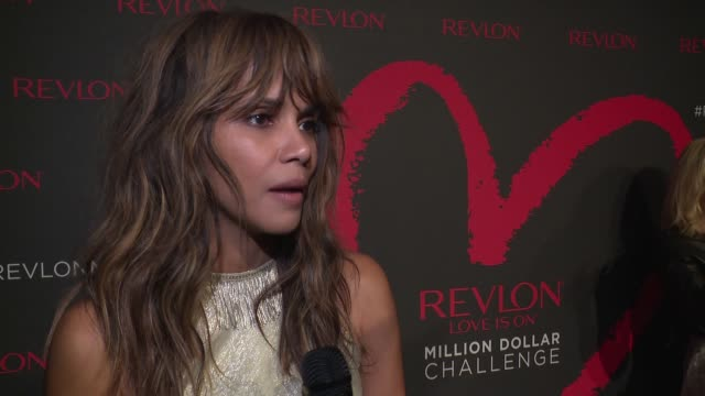 INTERVIEW Halle Berry on supporting Revlon at Revlon's 2nd Annual Love Is On Million Dollar Challenge Finale Party at the Glass Houses on December 1...