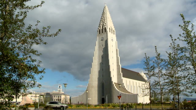 vidéos et rushes de hallgrimskirkja church - protestantisme