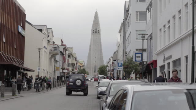 hallgrímskirkja church - reykjavik stock videos and b-roll footage