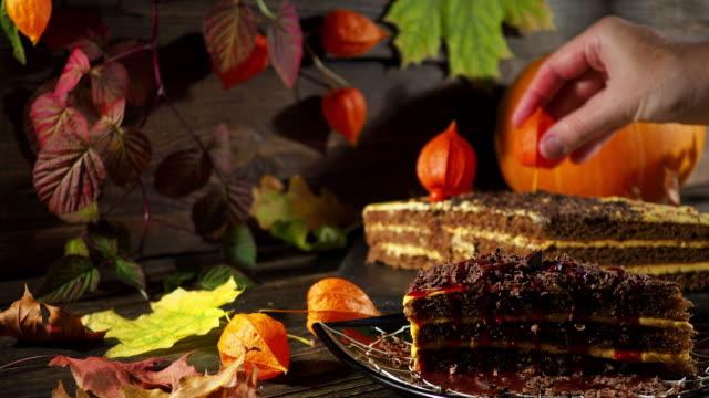 halloween cake decorating - baking stock videos & royalty-free footage