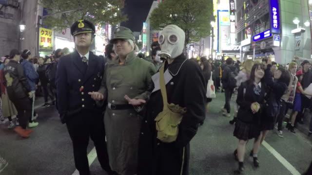 halloween celebration in shibuya - 扮装点の映像素材/bロール