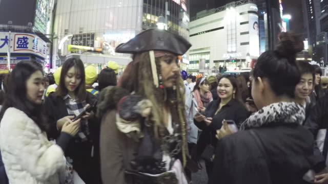 halloween celebration in shibuya - fancy dress costume stock videos and b-roll footage