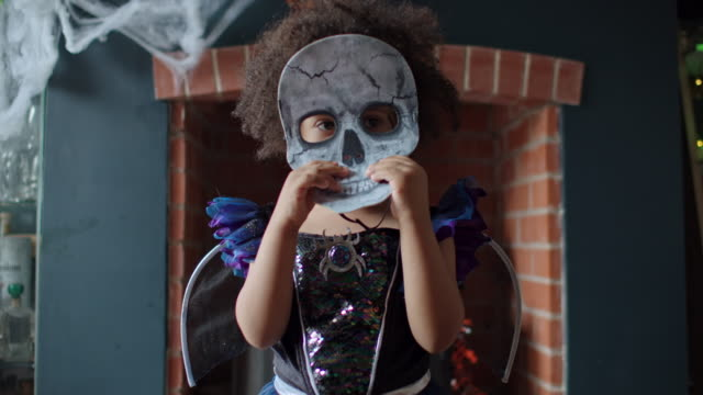 halloween girl - only girls stock videos & royalty-free footage