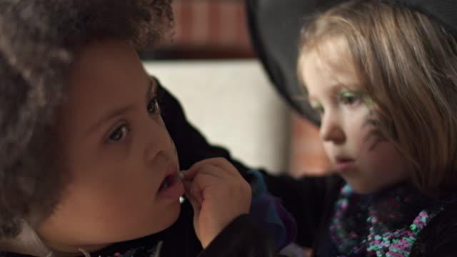 halloween girls - invertebrate stock videos & royalty-free footage