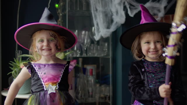 halloween girls - witch stock videos & royalty-free footage