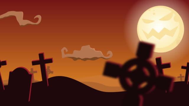 Halloween Graveyard - Animated Background