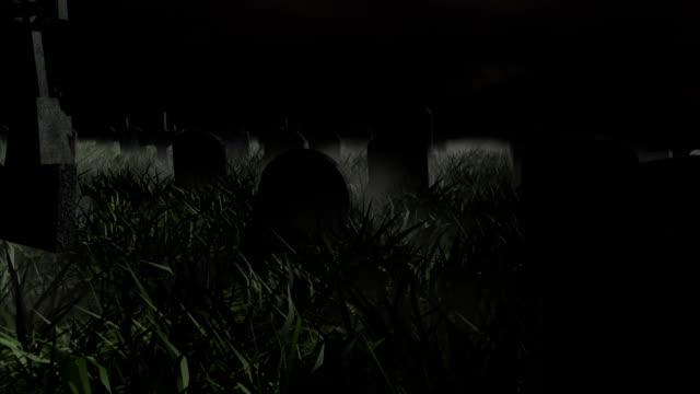 Halloween Friedhof stürmischen Nacht