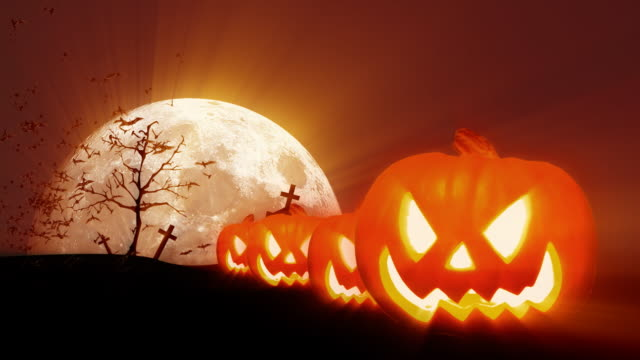 halloween hd - halloween wallpaper stock videos and b-roll footage