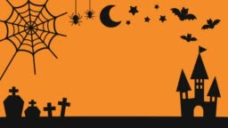 Halloween motif silhouette