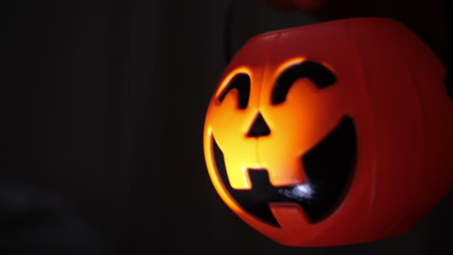 halloween pumpkin at night - ugliness stock videos and b-roll footage