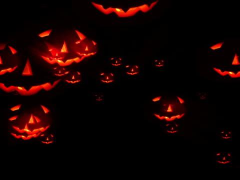 Halloween pumpkin attack, loopable - NTSC