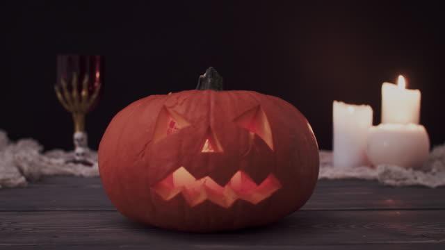 halloween pumpkin, debica, poland - halloween wallpaper stock videos and b-roll footage