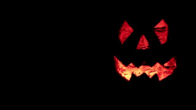 halloween pumpkin glow in the dark - halloween stock videos & royalty-free footage