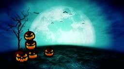 Halloween pumpkin head jack lantern,Spooky night, Loop