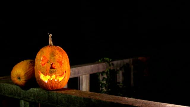 halloween pumpkin, jack o lantern - lantern stock videos & royalty-free footage