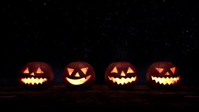 halloween pumpkin jack - halloween stock videos & royalty-free footage