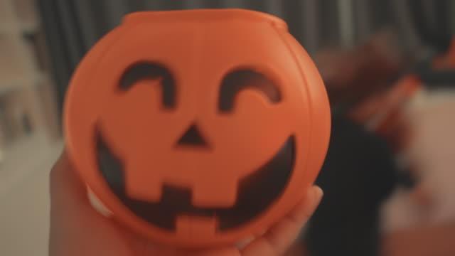 pov : halloween pumpkin - halloween stock videos & royalty-free footage