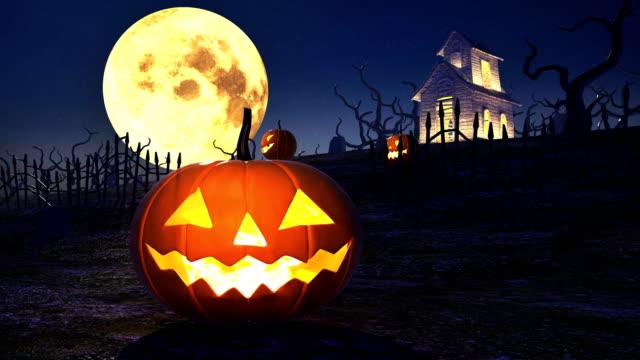 halloween pumpkins 4k - halloween stock videos & royalty-free footage