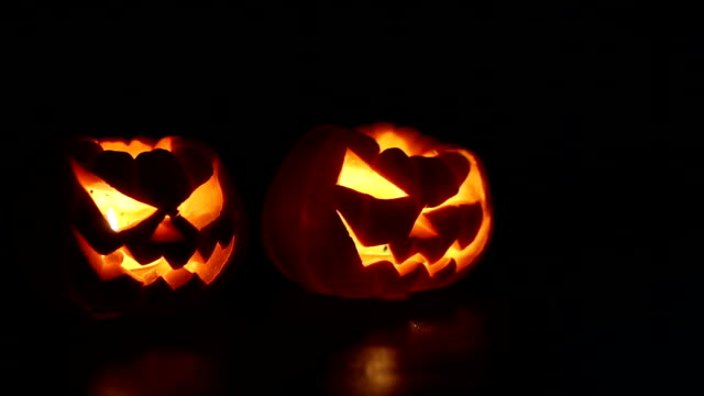halloween pumpkins smile - interconnect plug stock videos & royalty-free footage