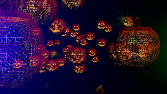 halloween pumpkins - halloween wallpaper stock videos and b-roll footage