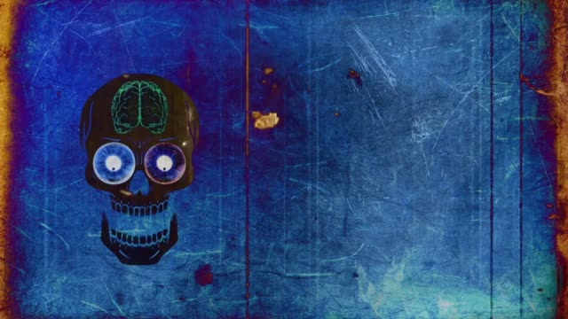 halloween scull - animated video - different scenes - halloween wallpaper stock videos and b-roll footage