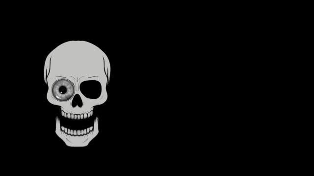 halloween scull - animated video - different scenes - religious celebration stock videos & royalty-free footage