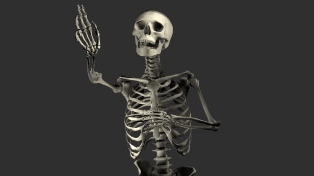 (loop + alpha) halloween, singing skeleton - gothic style stock videos & royalty-free footage