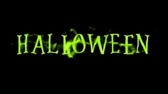 vídeos y material grabado en eventos de stock de halloween título - efecto de multi capa