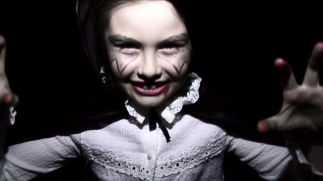 halloween vampire girl - hd, sound - vampire stock videos and b-roll footage