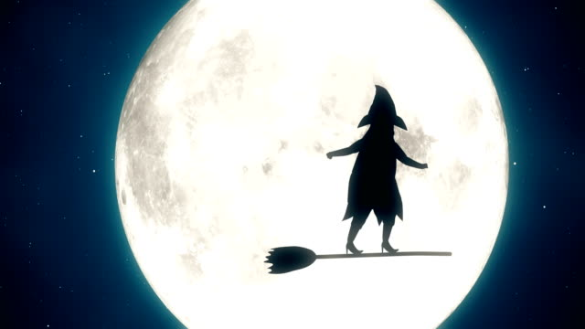 4k halloween witch animation - witch stock videos & royalty-free footage